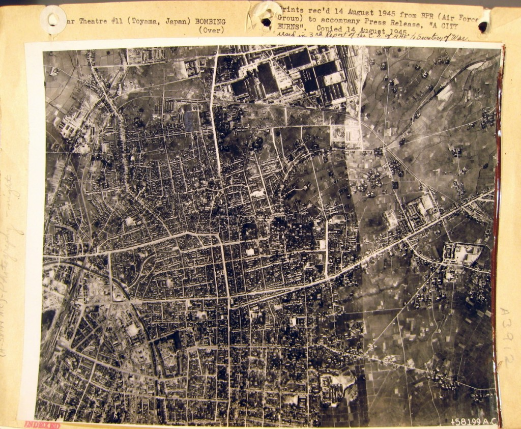 Toyama city before the air raid