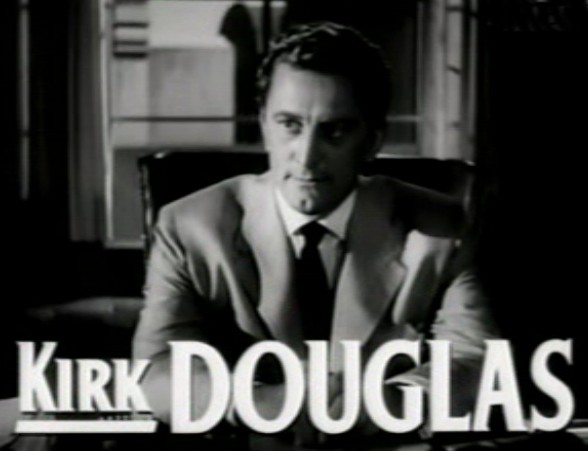 Kirk Douglas in the Bad and The beautiful trailer