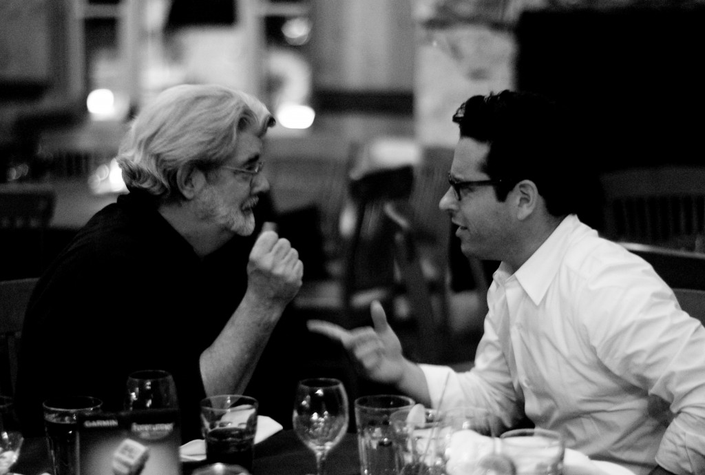 J.J. Abrams and George Lucas by Joi Ito