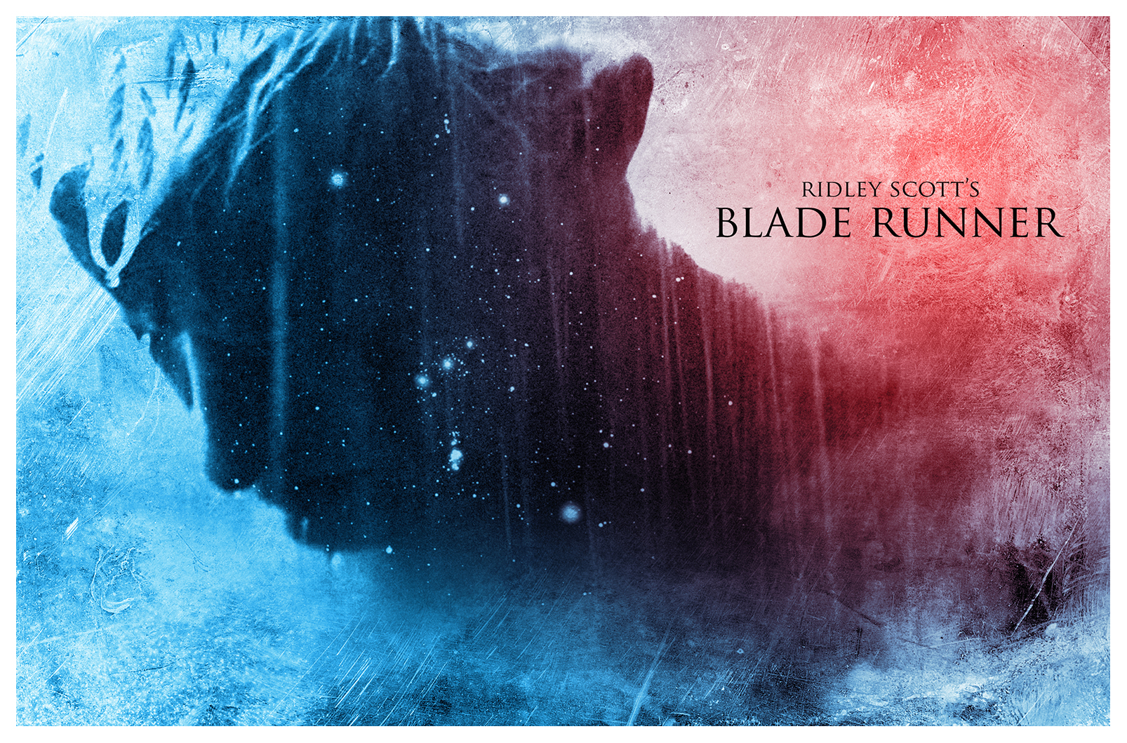 Rutgers Hauer as Roy Batty in Blade Runner. Poster by Alejandro Ovalles