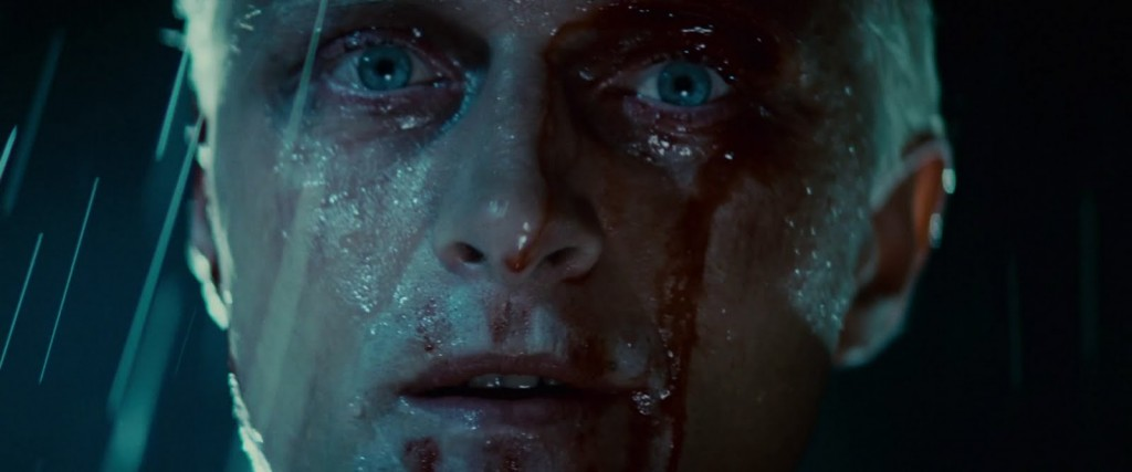 Rutgers Hauer as Roy Batty in Blade Runner.