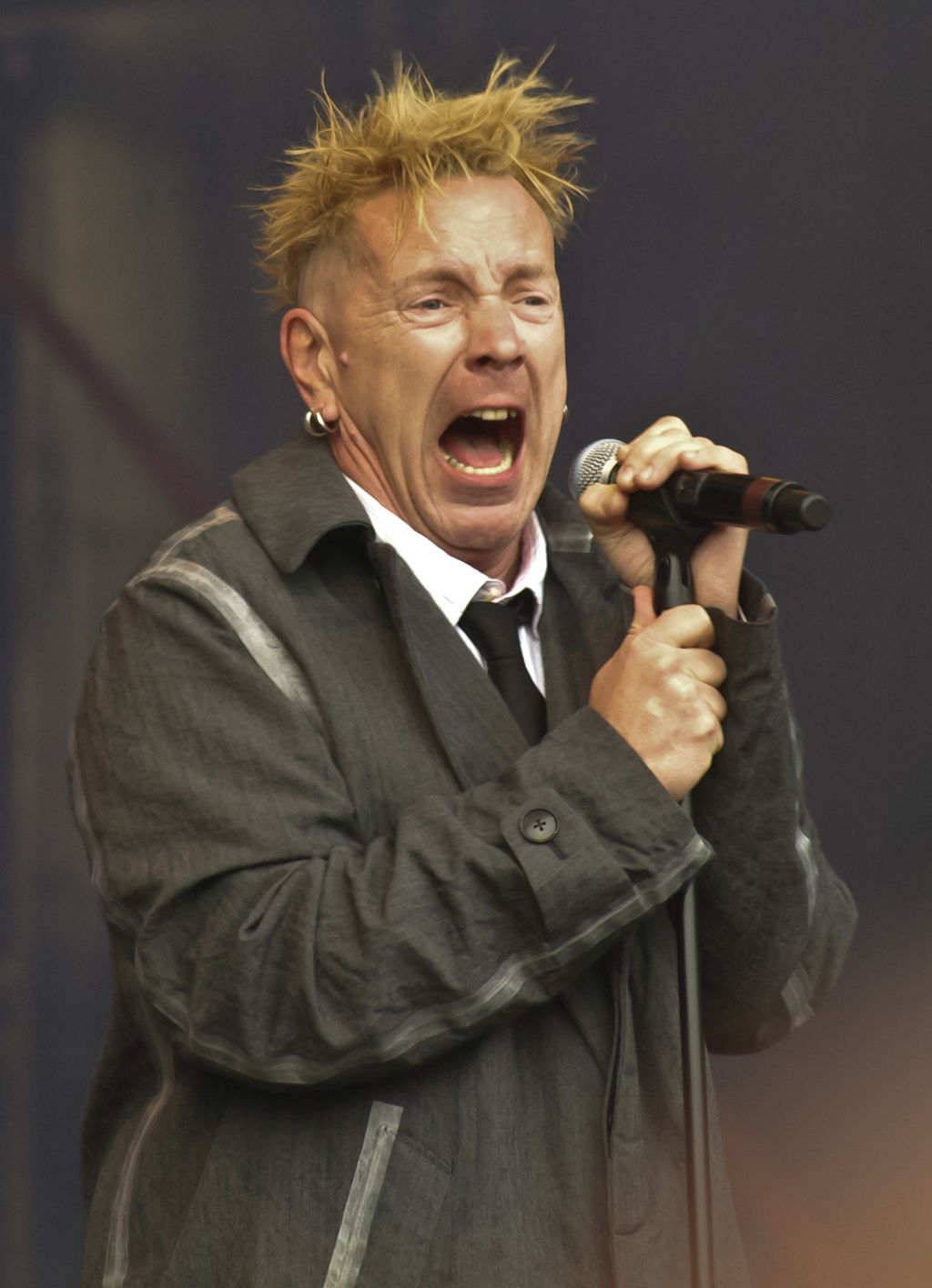 John Lydon performing with Public Image Limited in 2010