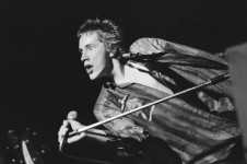 Johnny Rotten performing with the Sex Pistols