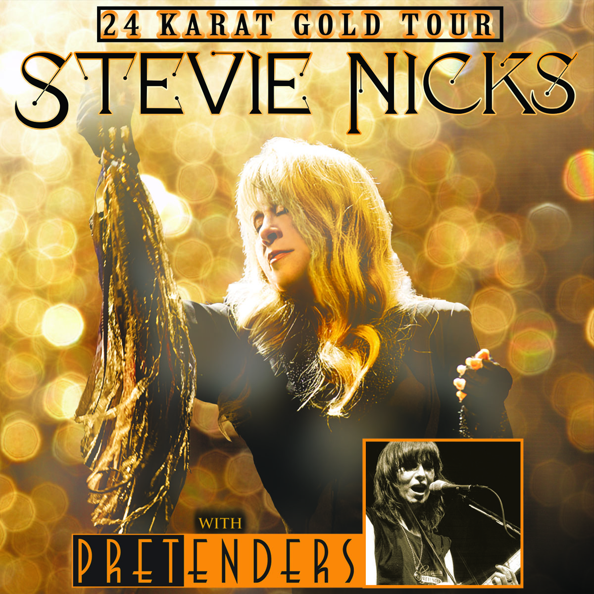 Stevie Nicks and The Pretenders 2016: 24 Karat Gold Tour