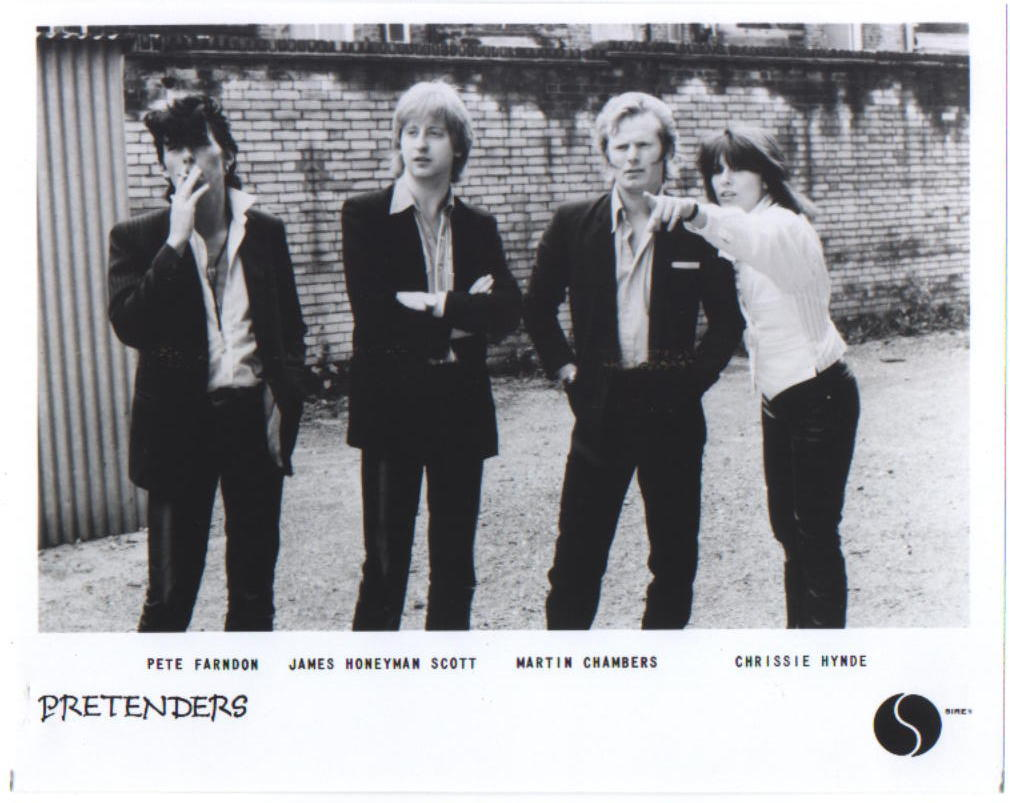 The Pretenders 1979 Martin Chambers, Chrissie Hynde, Pete Farndon, James Honeyman-Scott